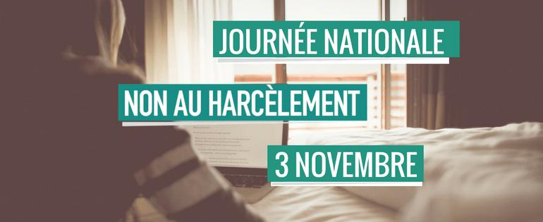 Journée nationale non au harcèlement