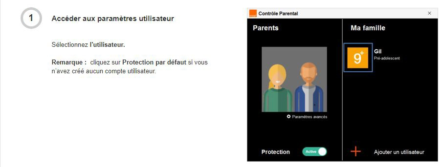 Contrôle parental ORANGE mobile