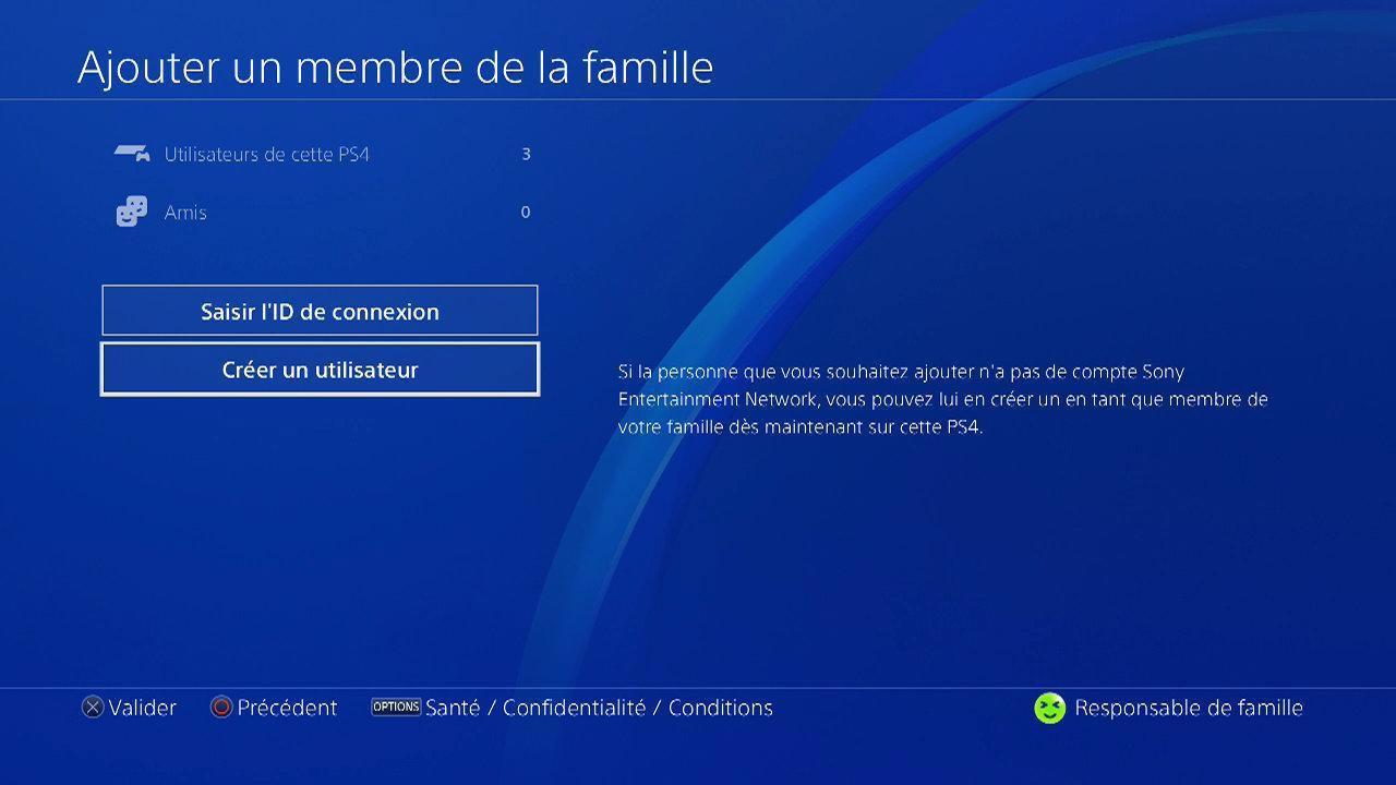 Contrôle parental Playstation 4