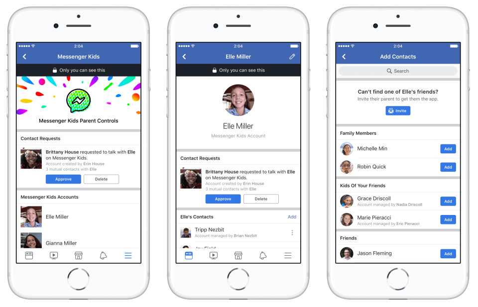 Facebook lance Messenger Kids aux USA
