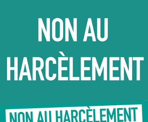 affiche non au harcèlement