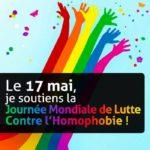 17 MAI – Journée mondiale contre l'homophobie