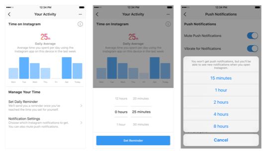 De nouvelles fonctionnalités de gestion du temps pour Facebook et Instagram