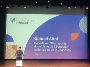 L'association e-Enfance présente pour célébrer les 1 an du Fonds pour le civisme en ligne de Facebook