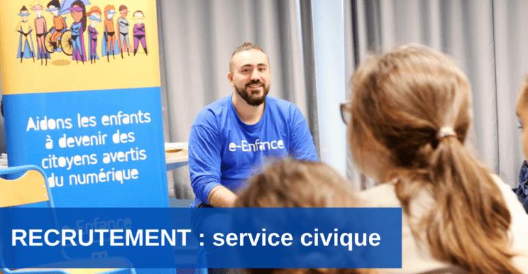 Recrutement :  rejoindre l'Association e-Enfance grâce au service civique