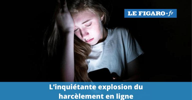 L'inquiétante explosion du harcèlement en ligne - l'association e-Enfance dans le Figaro