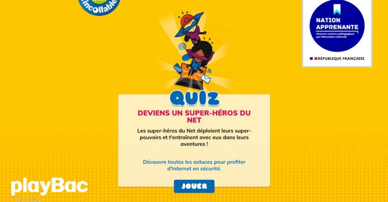 [Nation Apprenante] Partenariat avec Play Bac© : Petit Quotidien / Quiz Super-Héros du net