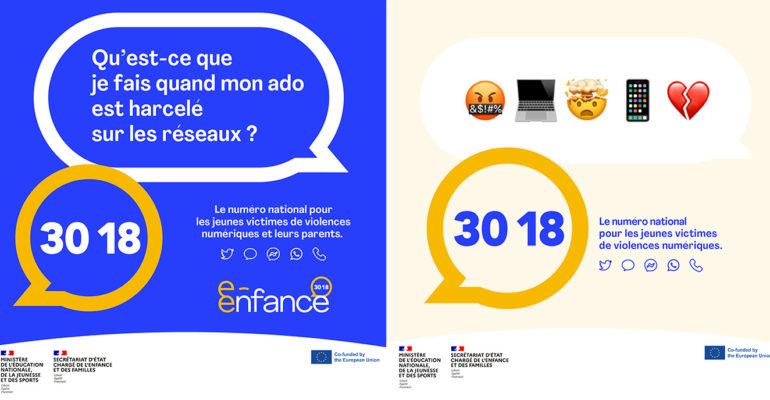 Les réseaux sociaux mobilisés pour la campagne de lancement du 3018, le nouveau numéro national  contre les violences numériques
